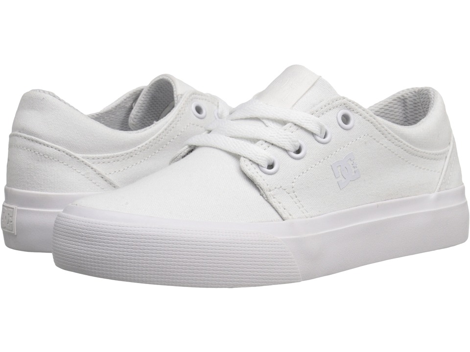 DC Kids - Trase TX (Little Kid) (White/White) Kids Shoes