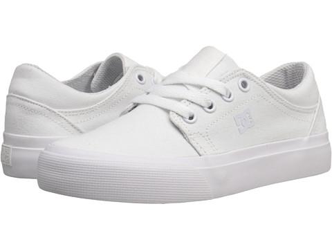 DC Kids - Trase TX (Little Kid) (White/White) Kids Shoes