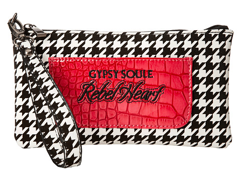 Gypsy SOULE - Rebel Heart Clutch (Black) Clutch Handbags