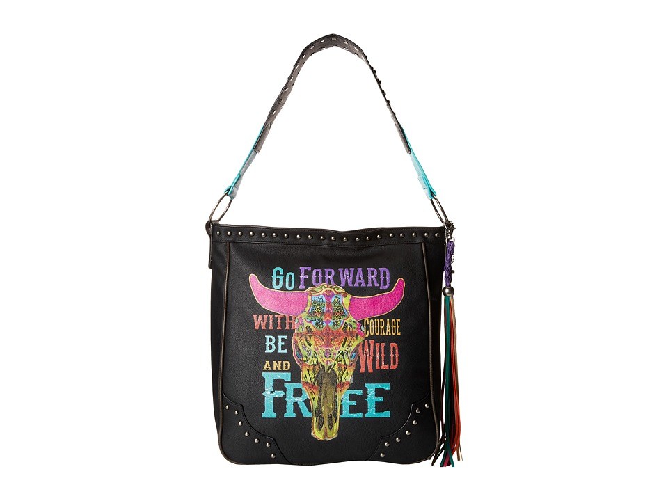 Gypsy SOULE - Go Forward Shoulder Bag (Black) Shoulder Handbags