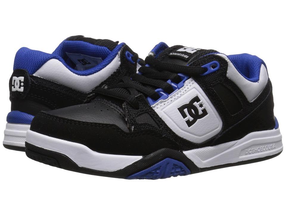 DC Kids - Stag 2 (Little Kid) (Black/White/Royal) Boys Shoes