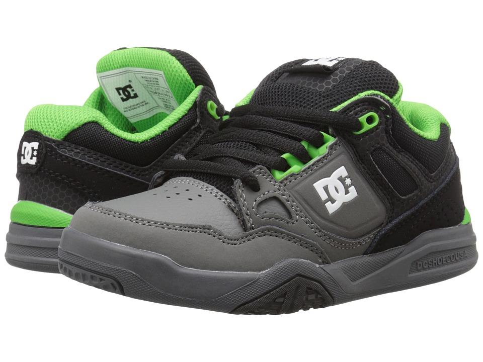 DC Kids - Stag 2 (Little Kid) (Black/Dark Shadow/Green) Boys Shoes