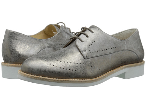 Paul Green - Debbie (Smoke Brushed Metallic) Women's Lace Up Wing Tip Shoes