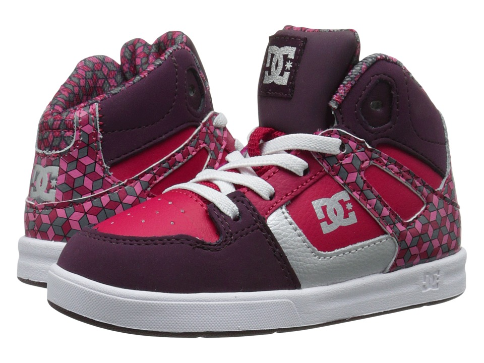 DC Kids - Rebound SE UL (Toddler) (Deep Red) Girls Shoes