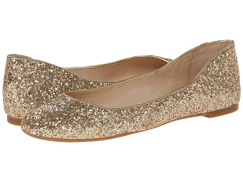 Nine West - Adorabl (Gold/Gold Synthetic) Women's Slip on Shoes