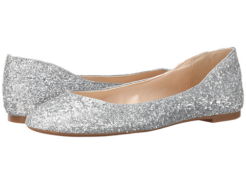 Nine West - Adorabl (Silver/Silver Synthetic) Women's Slip on Shoes
