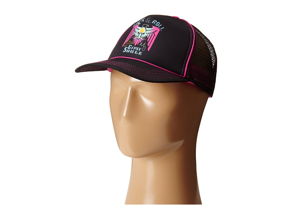 Gypsy SOULE - Rock Roll Gypsy Soule Trucker Hat (Black) Caps