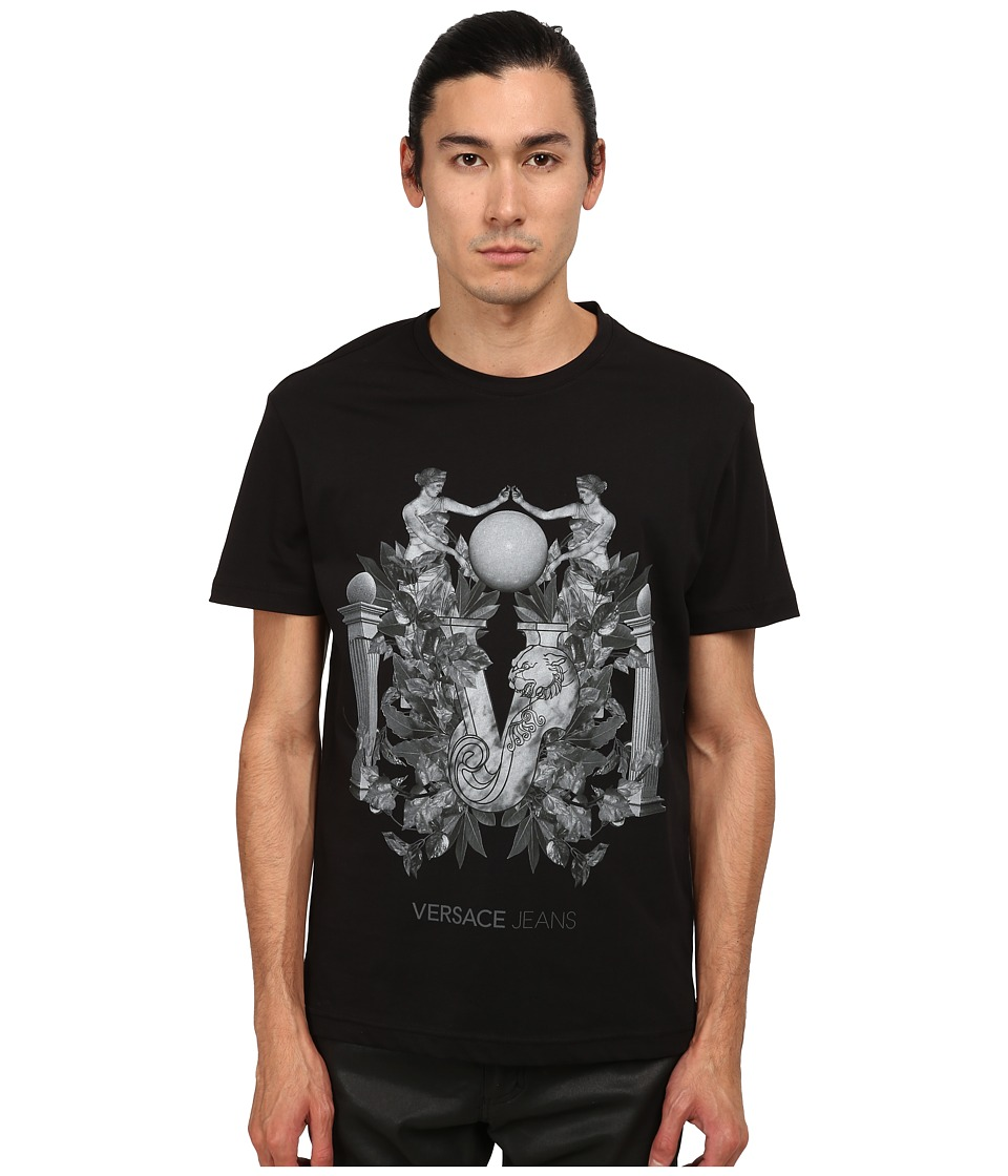 Versace Jeans - Greco Columns T-Shirt (Black) Men's T Shirt