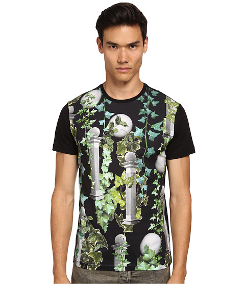 Versace Jeans - All-Over Greco Columns T-Shirt (Black) Men