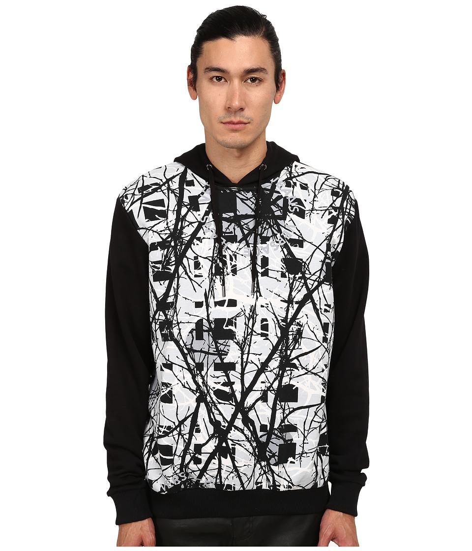 Versace Jeans - Reversible Print Pullover Hoodie (Black) Men's Sweatshirt