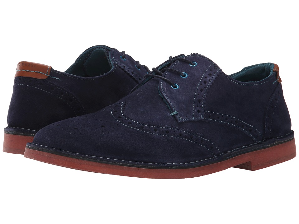 Ted Baker - Jamfro 6 (Dark Blue Suede) Men's Shoes