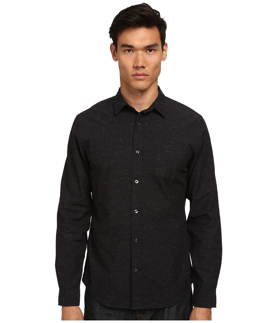 Vince - Long Sleeve Flecked Shirt (Black) Men's Long Sleeve Button Up