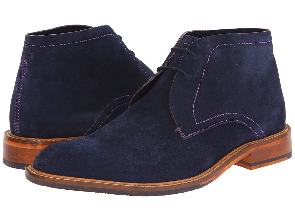 Ted Baker - Linnus (Dark Blue Suede) Men's Shoes