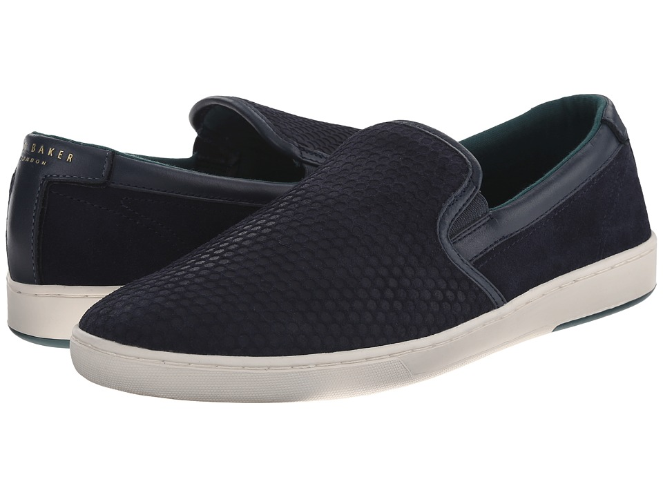 Ted Baker - Speerz (Dark Blue Suede) Men's Slip on Shoes