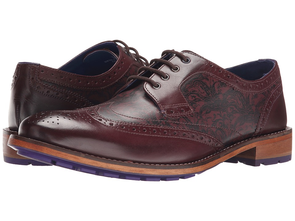 Ted Baker Vauxen (Dark Red Leather) Men