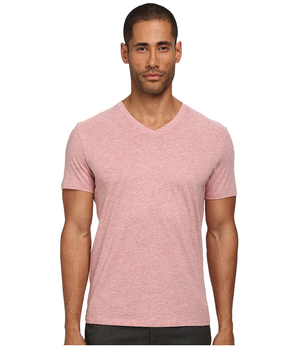 Vince - Short Sleeve Pima Cotton V-Neck Tee (Heather Grenadine) Men