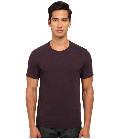 Vince - Short Sleeve Pima Cotton Crew Neck Tee (Heather Plum) Men