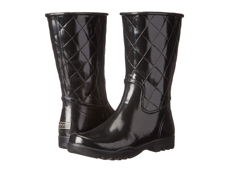 Sperry - Nellie (Black Quilted) Women's Rain Boots