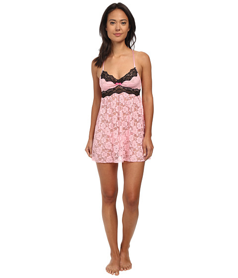 Betsey Johnson - Floral Lace Babydoll (Precious Pink) Women