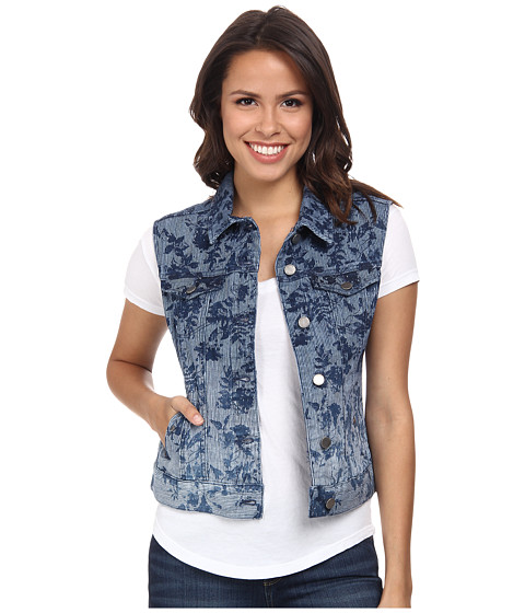 Liverpool - Printed Denim Vest (Ombre) Women's Vest