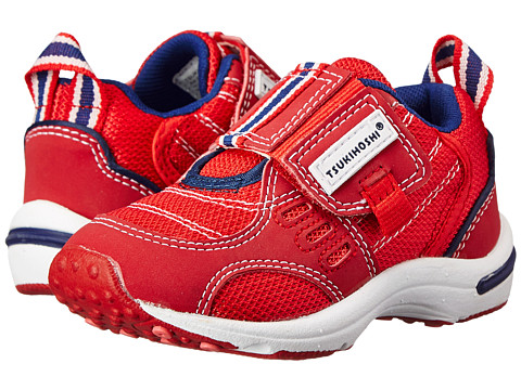 Tsukihoshi Kids - Euro (Toddler/Little Kid) (Red/Navy) Boys Shoes