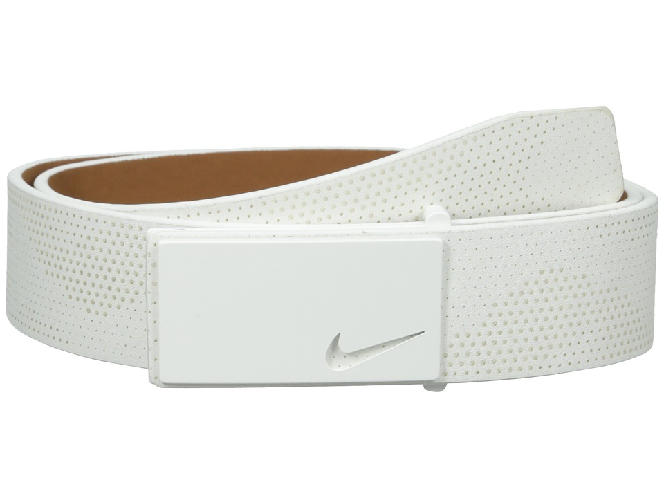 Nike - Sleek Modern Lazer (White) Men's Belts