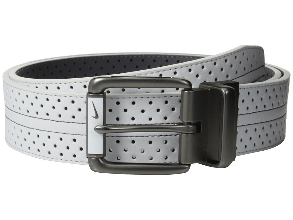 Nike - Perf Reversible Contrast (White/Dark Grey) Men's Belts
