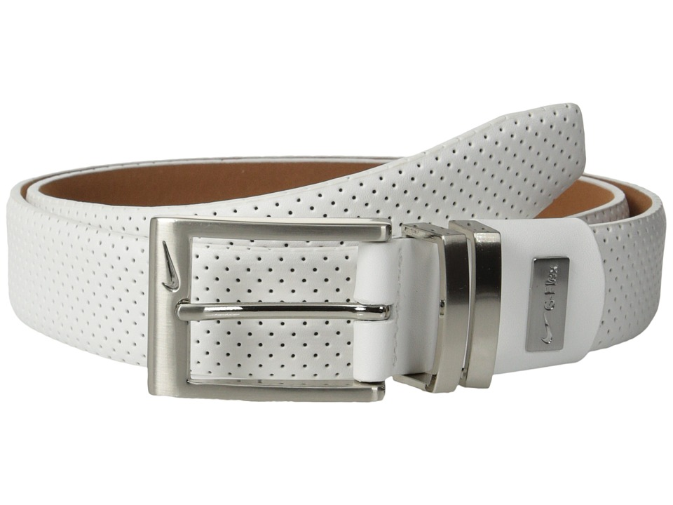 Nike - Pin Dot Embossed Premium (White) Men's Belts