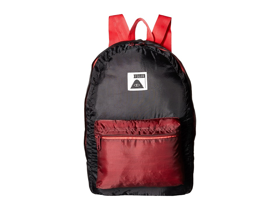 Poler - Stuffable Pack (Black/Sweet Berry Wine) Backpack Bags