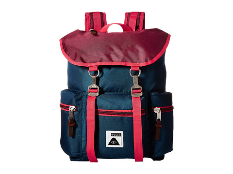 Poler - Roamers Pack (Sweet Berry Wine/Steel Blue/Cayenne) Backpack Bags
