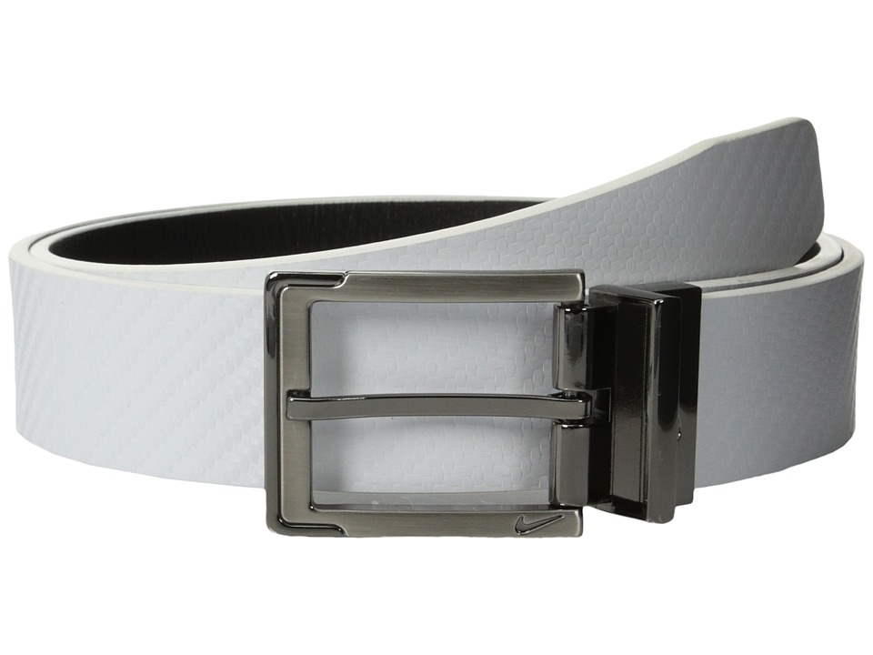 Nike - Carbon Fiber Textured Reversible (White/Black) Men's Belts