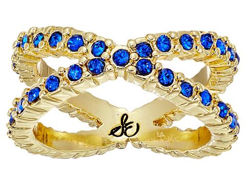 Sam Edelman - X Pave Midi Ring (Sapphire/Gold) Ring