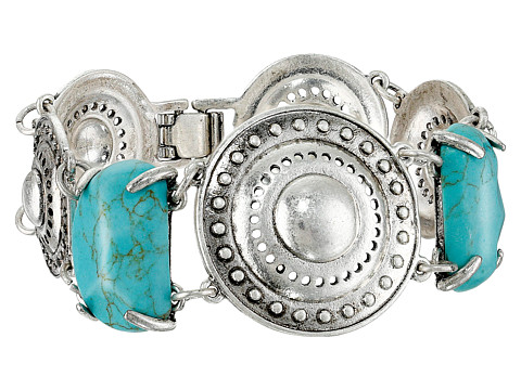 Sam Edelman - Disc Stone Line Bracelet (Turquoise/Silver) Bracelet