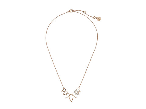 Sam Edelman - Open Tear Frontal Necklace 16 Necklace (Rose Gold) Necklace