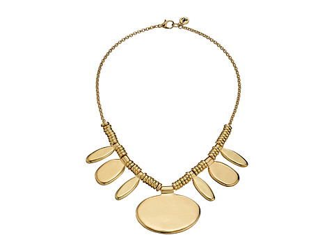 Sam Edelman - Large Oval Frontal Necklace 16 (Gold) Necklace