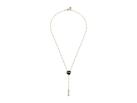 Sam Edelman - Pave Nugget Y 20 Necklace (Black/Gold) Necklace