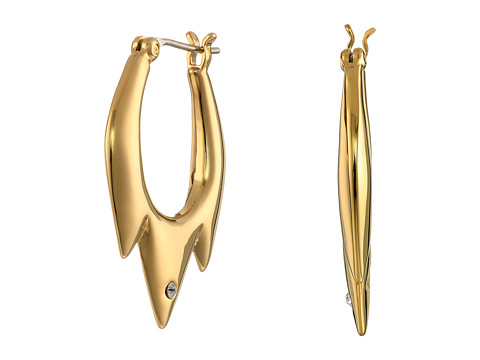 Sam Edelman - Jagged Baby Hoop Earrings (Gold) Earring