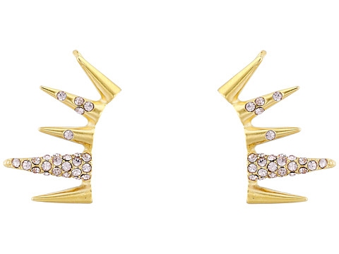 Sam Edelman - Pave Spike Ear Cuff (Light Amethyst/Gold) Earring