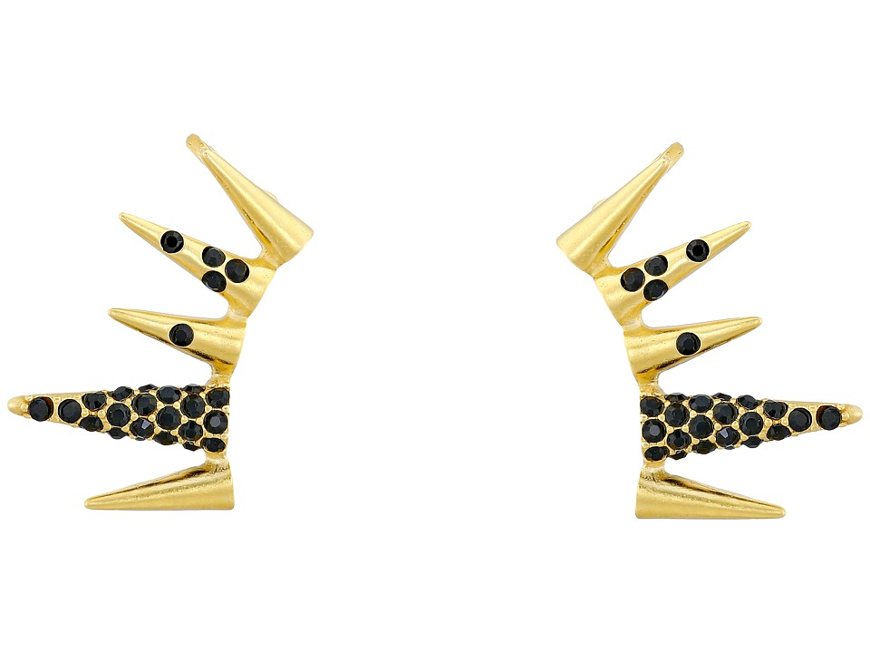Sam Edelman - Pave Spike Ear Cuff (Black/Gold) Earring