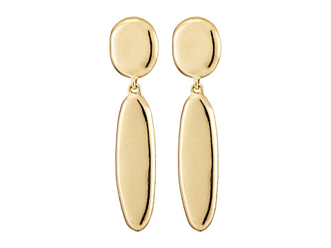 Sam Edelman - Oval Double Drop Earrings (Gold) Earring