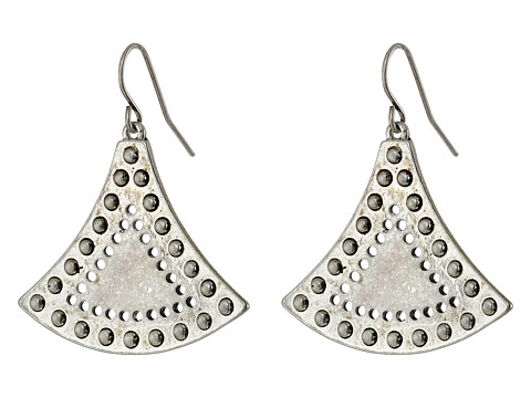 Sam Edelman - Flared Metal Drop Earrings (Rhodium) Earring