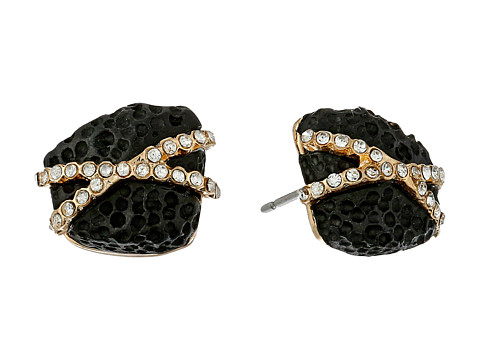 Sam Edelman - Pave Nugget Stud Earrings (Black/Gold) Earring