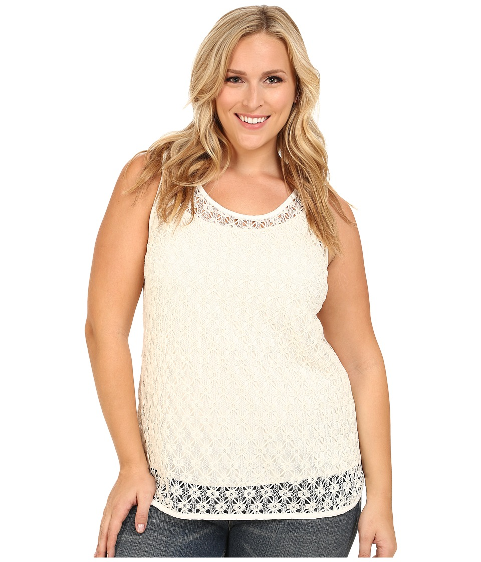 Vince Camuto Plus - Plus Size Serengeti Sleeveless Crochet Lace Tank Top (New Ivory) Women's Sleeveless
