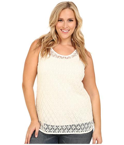Vince Camuto Plus - Plus Size Serengeti Sleeveless Crochet Lace Tank Top (New Ivory) Women