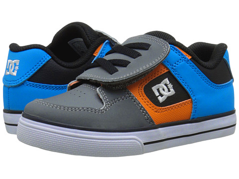 DC Kids - Pure V (Toddler) (Armor/White/Orange) Boys Shoes