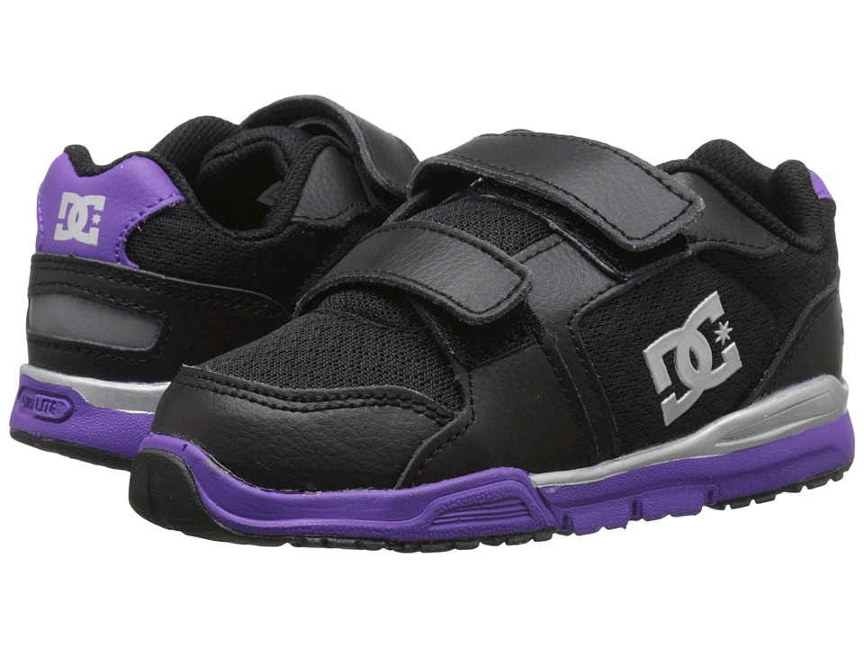 DC Kids - Forter V (Toddler) (Black/Purple) Girls Shoes