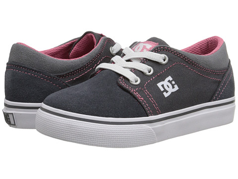 DC Kids - Trase Slip (Toddler) (Grey/Pink) Girls Shoes