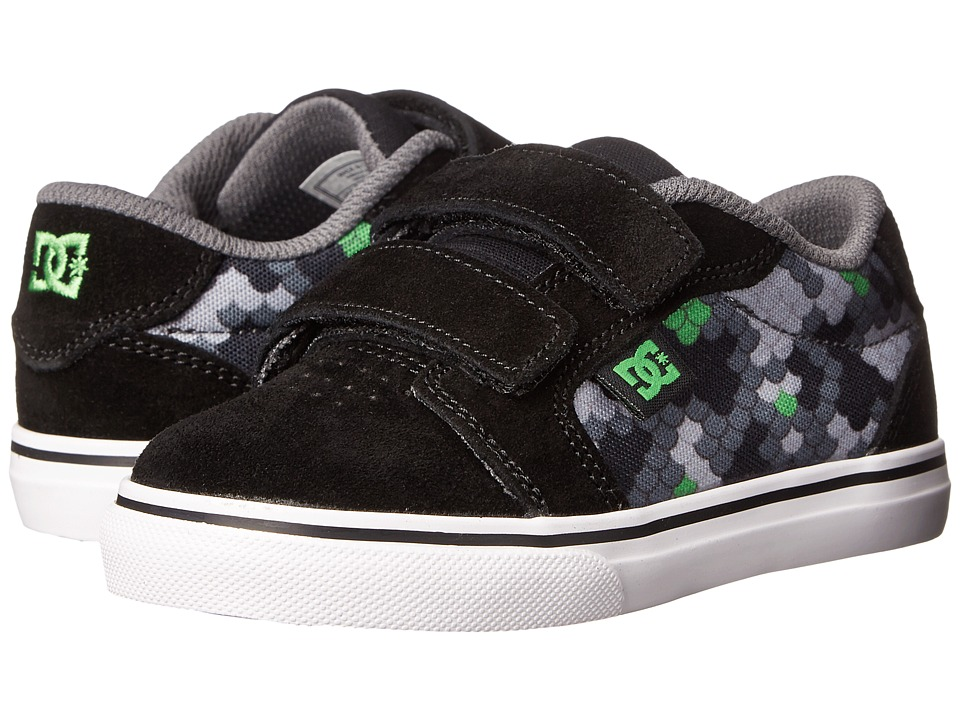 DC Kids - Anvil V (Toddler) (Black/Graffiti Print) Boys Shoes