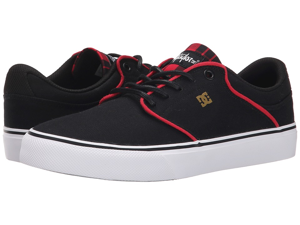 DC - Mikey Taylor Vulc TX (Black/Plaid) Men's Skate Shoes