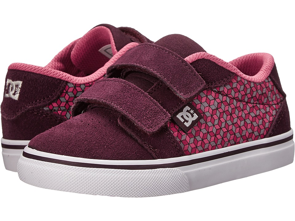 DC Kids - Anvil V (Toddler) (Purple/White) Girls Shoes